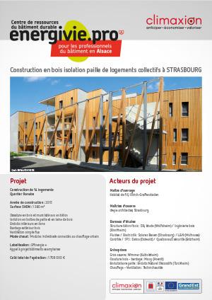 Eco Terra : Construction en bois isolation paille de logements collectifs à Strasbourg