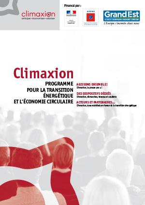 Climaxion : programme pour la transition énergétique et l'économie circulaire