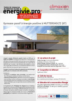 Gymnase passif à énergie positive à Muttersholtz, fiche retour d'expérience