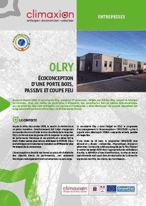Olry : Écoconception d'une porte bois, passive et coupe feu
