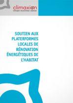 Soutien aux plateformes locales de rénovation énergétique de l'habitat