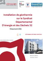 REX géothermie SDED 52