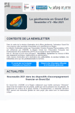 Newsletter géothermie